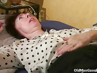 cougar widow takes dual pierced