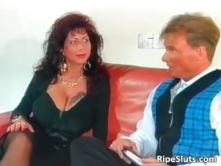beautiful mega breasted older  bitch takes part4