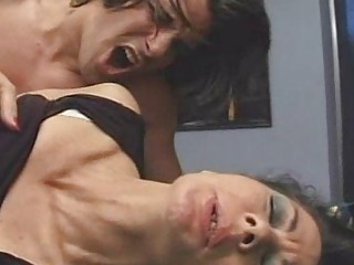 cougar  hirsute  2 elderly moms drilled on desk