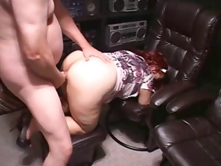 heavy ginger mature eats his dick and after that