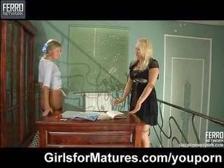 dike maid seduces her lady milf