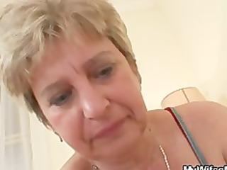 cock hungry granny fucks her son into law