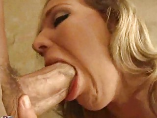 cougar amp with cock licking labium squeezes tits