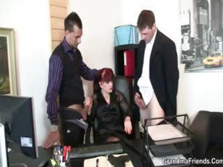 grownup bureau slut likes two dicks