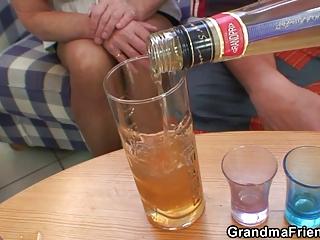 partying dudes nail pale grandma